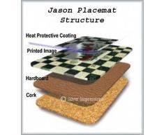 Jason D2125 - Posavasos (6 unidades), diseño rústico