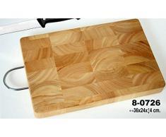 DonRegaloWeb - Tabla de cortar de madera rectangular con asa de color haya