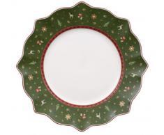 Villeroy & Boch 14-8585-2621 Plato Llano Toy's Delight, para Navidad, 29 cm, Porcelana, Verde, 29.0x29.0x11.0 cm