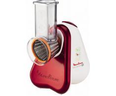 Moulinex Fresh Express Plus DJ756G - Rallador eléctrico, 150 W, acero inoxidable, rojo y blanco
