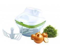 Picadora con recipiente recolector – zerhacker – Multiusos Rallador – Multi Rallador de verduras Hacker – Mandolina – zerhexler – Multi Hacker – Cebolla
