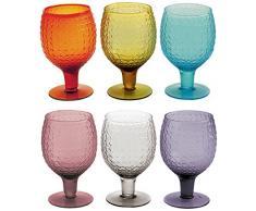Villa D'Este Karma Juego de 6 Copas de Vino, de Cristal, en Varios Colores
