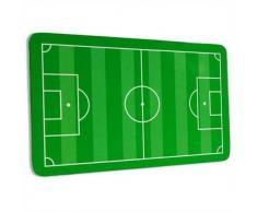 Bandeja de desayuno con campo de fútbol-diseño, melamina, 21,9 cm x 13,9 cm