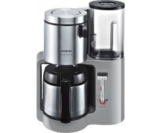 Siemens TC86505 - Cafetera con jarra térmica de acero inoxidable (1100 W, 8/12 tazas), color plateado
