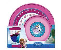 Frozen - Vajilla plástico, 3 piezas (Factory CR 560791)