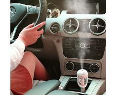 VANKER Mini purificador del aire del ambientador limpiador esencial del difusor del aceite del coche auto humidificador Rosa