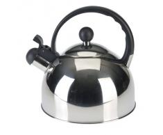 Axentia 220353 - Tetera de acero (2,5 litros), color negro