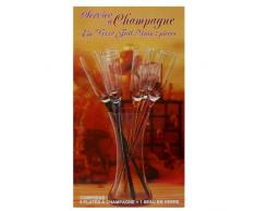 Set 6 copas de Champagne + decantador de cristal