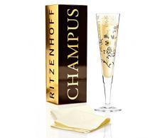 Ritzenhoff 1070225 diseño de copas de champán, copa de cava con servilletas, Helena Ladeiro, otoño 2015