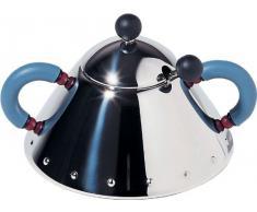 Alessi 9097 - Azucarero de acero pulido con cuchara, color azul