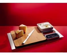 Alessi FS06 4X4 Programma 8 - Tabla de cortar de madera de bambú (32,5 x 5 x 31,5 cm)