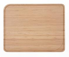 Pebbly NBA036 - Tabla para cortar con canal (bambú natural, 37 29 x cm)