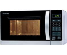 Sharp R642INW - Microondas grill, 20 l, control táctil, 800 W