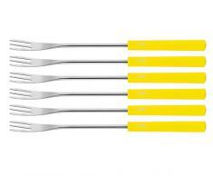 Spring 2890295506 - Juego de 6 tenedores para fondue, color amarillo