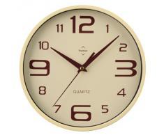 Premier Housewares - Reloj De Pared Redondo (Números Grandes Y Pequeños), Color Crema