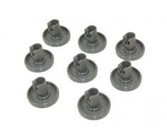 Zanussi - Rueda para cesta inferior de lavavajillas (8 unidades). Número de pieza genuina 50286965004