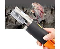 Mxjeeio❤Raspador de Escamas de Pescado Cuchillos de Pescado Escamador Quita Escamas, Pescado Scaler Eléctrico Recargable scalers de Pesca Clean Remover Cleaner desincrustante Impermeable (EU)
