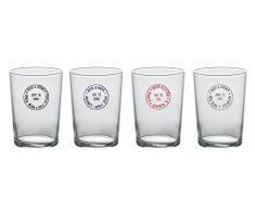 Bitossi Home MCA30 Set de 4 jarras de cerveza surtidas, London-New York-Paris-Milan