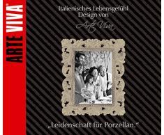 ARTE VIVA 120703 - Juego de café y vajilla de porcelana GRAZIOSO, 30 piezas, redondos, multicolor, design I love
