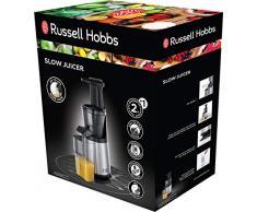 Russell Hobbs Slow Juicer 25170-56 - Licuadora de extracción lenta para zumos, 150 W, acero inoxidable