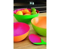 Zak Designs Tulipanes - Cubiertos para servir ensalada, 2 unidades, 28 cm, verde/naranja