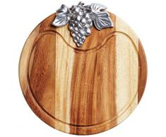 Master Class madera de Acacia y Metal tabla de cortar queso