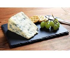 Pizarra para queso – Tabla de Charcuterie, queso y carne, tabla de servir para el hogar, restaurante, café, 3 tizas incluidas