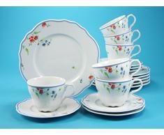 Creatable 14396/Organic Oslo Servicio de caf/é 18/Piezas Porcelana 34/x 30/x 26,5/cm