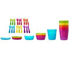 De corte para-edge 36 piezas Para niños de plástico Vajilla De Ikea sin BPA. Producto de gran calidad - Cleva Alute Edition