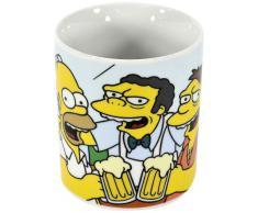 United Labels The Simpsons 0103540 Homer, Moe, Barney: la taberna de Moe - Taza de porcelana, 850 ml [importado de Alemania]