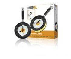 basicXL BXL-FPC10Y - Reloj de pared (AA, 1,5 V, Amarillo, De plástico, 355 mm, 40 mm)