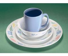 color azul melamina, 5 piezas Bieco 04000268 Vajilla infantil dise/ño de animales