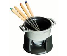 Staub Mini fondue set - Accesorio de cocina (Gris, 1 kg)