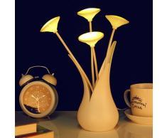 CuZiLe Iluminación Infantil Nocturna Lámpara LED Tipo Florero, Regulable Luz De Noche, Lámpara De Mesa De, Lámpara USD Decorativa Recargable Para Habitación, Sala, Cocina, Bar, etc.