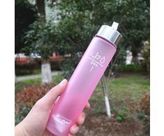 botella de agua deporte vovotrade® Nueva portátil Bike Deportes 280ml Unbreakable botella de plástico de agua (rosa)