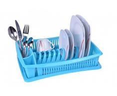 Escurridor de platos - azul - con rejilla - escurridor vajilla - escurridor - bandeja - escurreplatos - escurridor vajilla