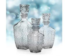 Aliciashouse Vino de consumición del whisky de cristal de la jarra de vino claro -850ml Botella garrafa