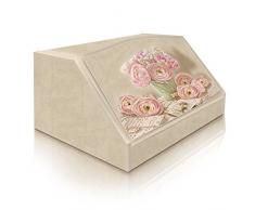Lupia Caja para Pan, Estilo rústico, diseño de Cartas románticas, Madera, 30 x 40 x 20 cm