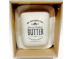 Mrs Winterbottom - mantequera de cerámica, blanco