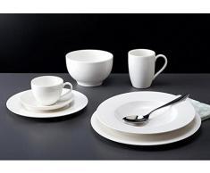 Villeroy & Boch Gallo Design Basic White Serie - Vajilla de porcelana, color blanco Kaffeeuntere