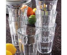 Duralex Picardie 1029AB06 - Juego de 6 vasos de vidrio de 36cl