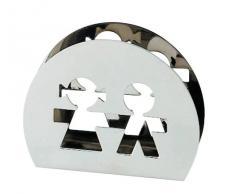Alessi AKK51 Girotondo - Servilletero con diseño de muñecos de papel
