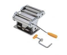 axentia – Máquina manual para hacer pasta casera, pasta maker para lasañas, tallarines, tagliatelles o espaguetis – con 3 rodillos – 9 grosores diferentes de pasta