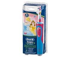 Oral-B Stages Power - Cepillo de dientes infantil eléctrico de rotación, color azul y rosa
