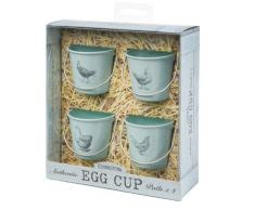 Eddington - Set de 4 hueveras, diseño vintage de gallinas