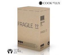 Appetitissime Cook DLux Utensilios de Cocina con Temporizador y Organizador, Acero Inoxidable, Negro, 39 x 20 x 28 cm