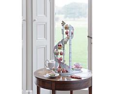 Talking Tables soporte de pastel espiral vintage 'Ts4' con detalle floral. Solo para los cupcakes y dulces pequeñas. Azul y rosa. Cartón,