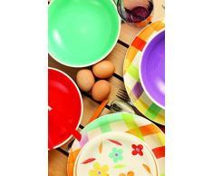 Villa D'este Home 2407834 juego de vajilla - juegos de vajillas (Multicolor, Dolomita)