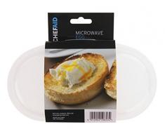 Chef Aid - Cocedor de huevos para microondas, transparente