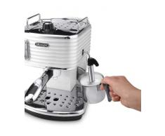 DeLonghi Scultura Cafetera de espresso manual, Independiente, 1.4 L, 15 bares, acero inoxidable, gris